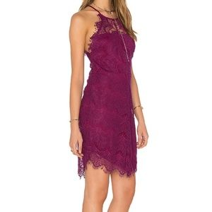 Free People She's Got It Sheer Lace Sheath Dress L